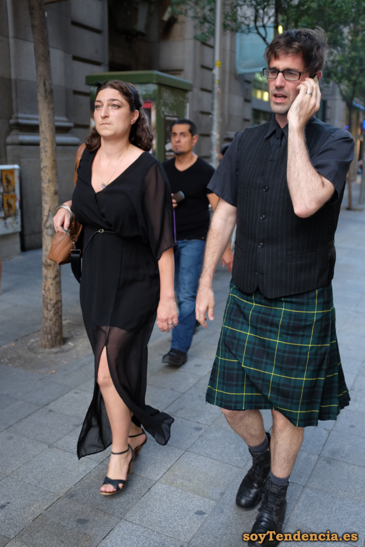 kilt falda escocesa soy tendencia madrid street style