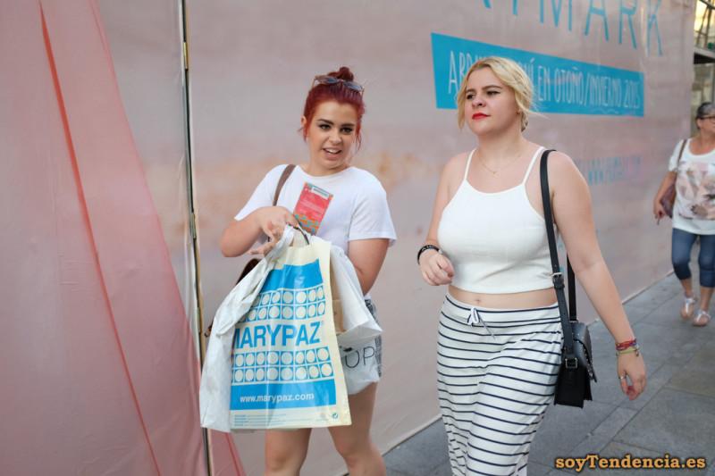 falda rayas Primark soyTendencia Madrid street style