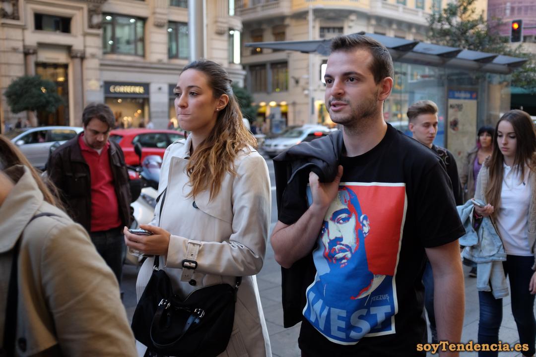 yeezus kanye west camiseta shirt soyTendencia Madrid street style