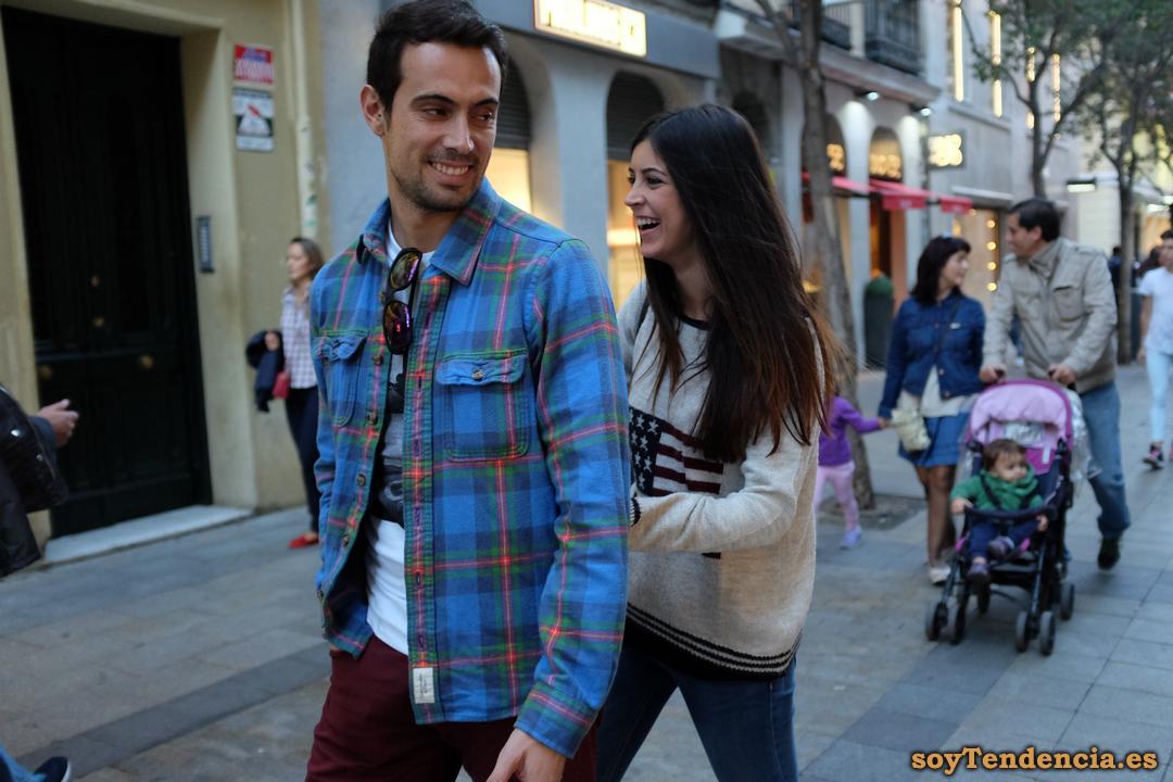 camisa escocesa franela soyTendencia Madrid street style