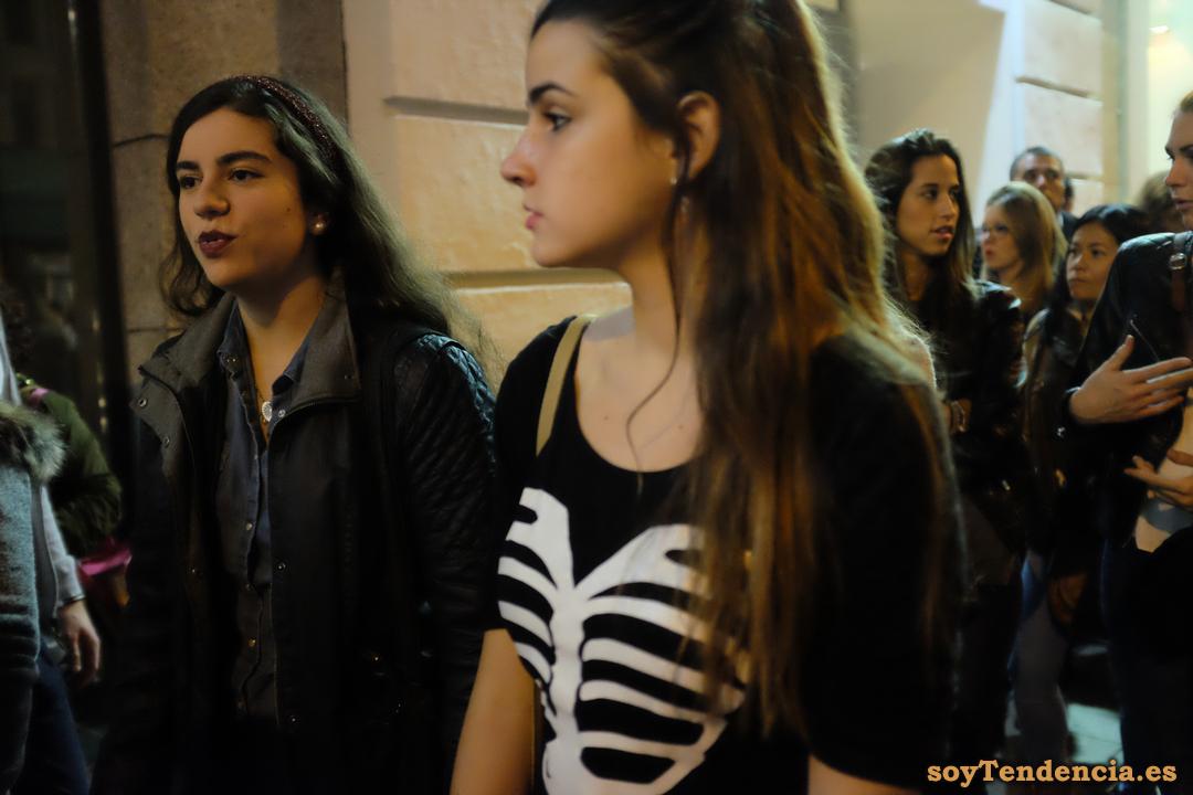 camiseta esqueleto halloween cazadora soyTendencia Madrid street style