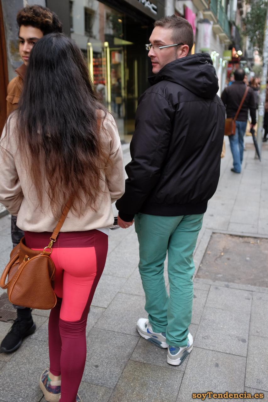 pantalon dos colores granate rosa soyTendencia Madrid street style