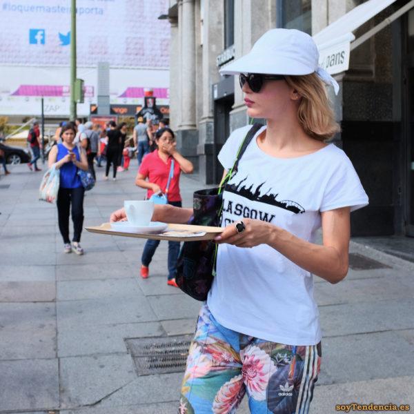 pantalon adidas camiseta Glasgow soyTendencia Madrid street style