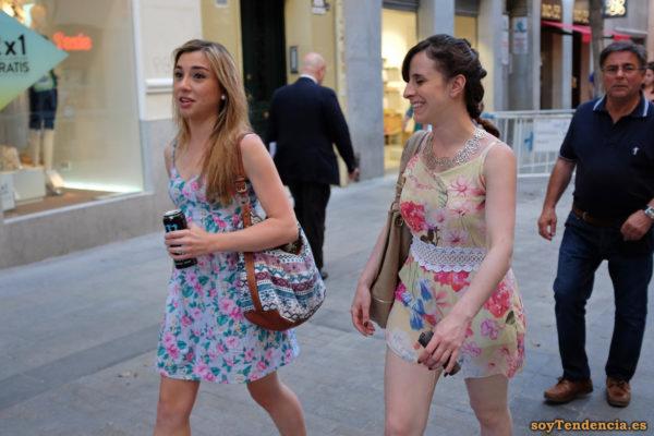 vestido flores collar rosas soyTendencia Madrid street style