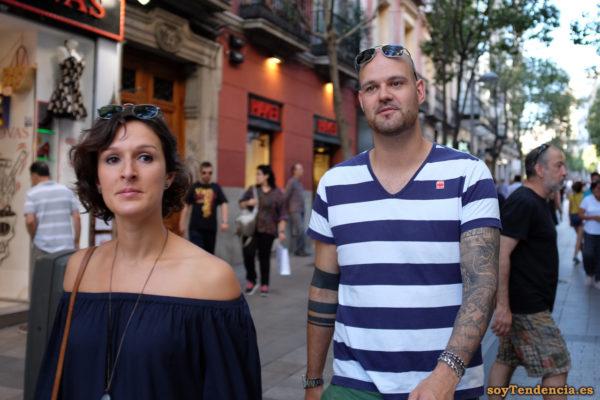 camiseta de rayas tattoo hombros soytendencia madrid street style