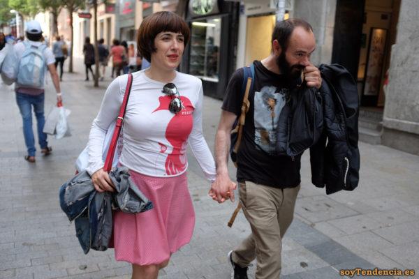 camiseta peluqueria falda rosa soytendencia madrid street style