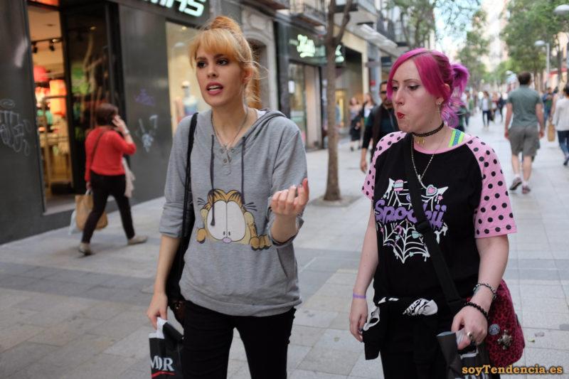 sudadera gato garfield capucha camiseta tela araña soytendencia madrid street style