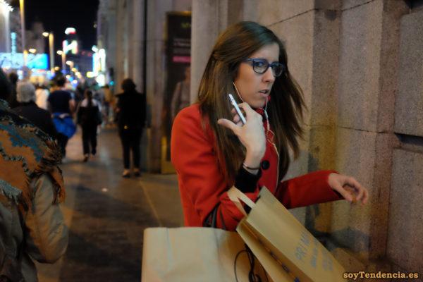 chaquetón rojo con botones negros primark soyTendencia Madrid street style