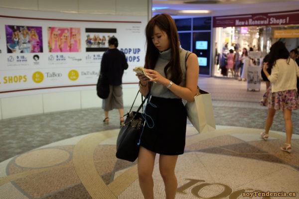 Shibuya 109 jersey cuello alto sin mangas japon soyTendencia Tokyo street style