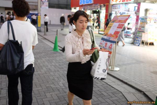 blusa de volantes con manga larga falda de tubo comprar cheesecakes Pablo Mini Akihabara japon soyTendencia Tokyo street style