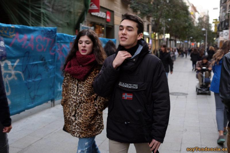 chaquetón leopardo bufanda granate anorak Napapijri soyTendencia Madrid street style
