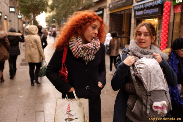 mochila para bebé bolso con pajarito pelirroja soyTendencia Madrid street style