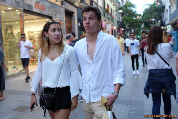 camisa blanca short negro soyTendencia Madrid street style