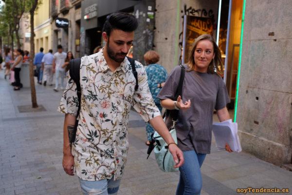 camisa con estampado de flores hombre soyTendencia Madrid street style