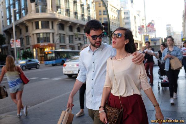 camiseta amplia media manga falda plisada soyTendencia Madrid street style