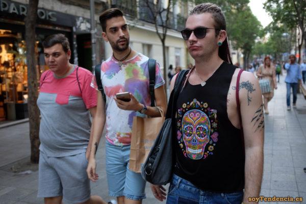 camiseta calavera multicolor manchas color pastel soyTendencia Madrid street style