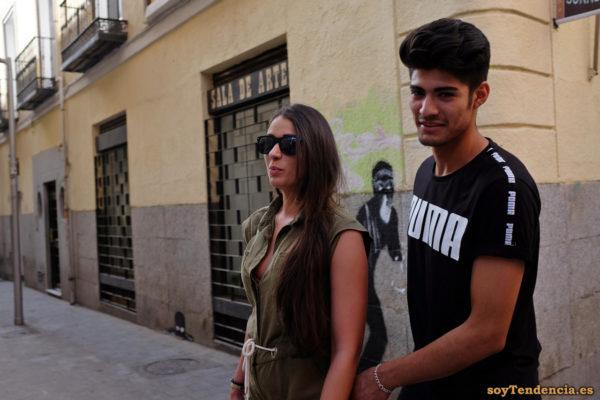 camiseta Puma mono caqui sin mangas abierto cinturón de cordón soyTendencia Madrid street style