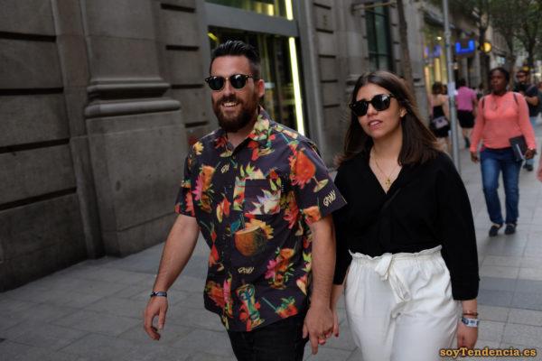 camisa coctel tropical 3d gafas pantalón cinta soyTendencia Madrid street style