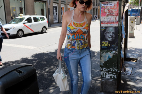 camiseta beach de Desigual soyTendencia Madrid street style